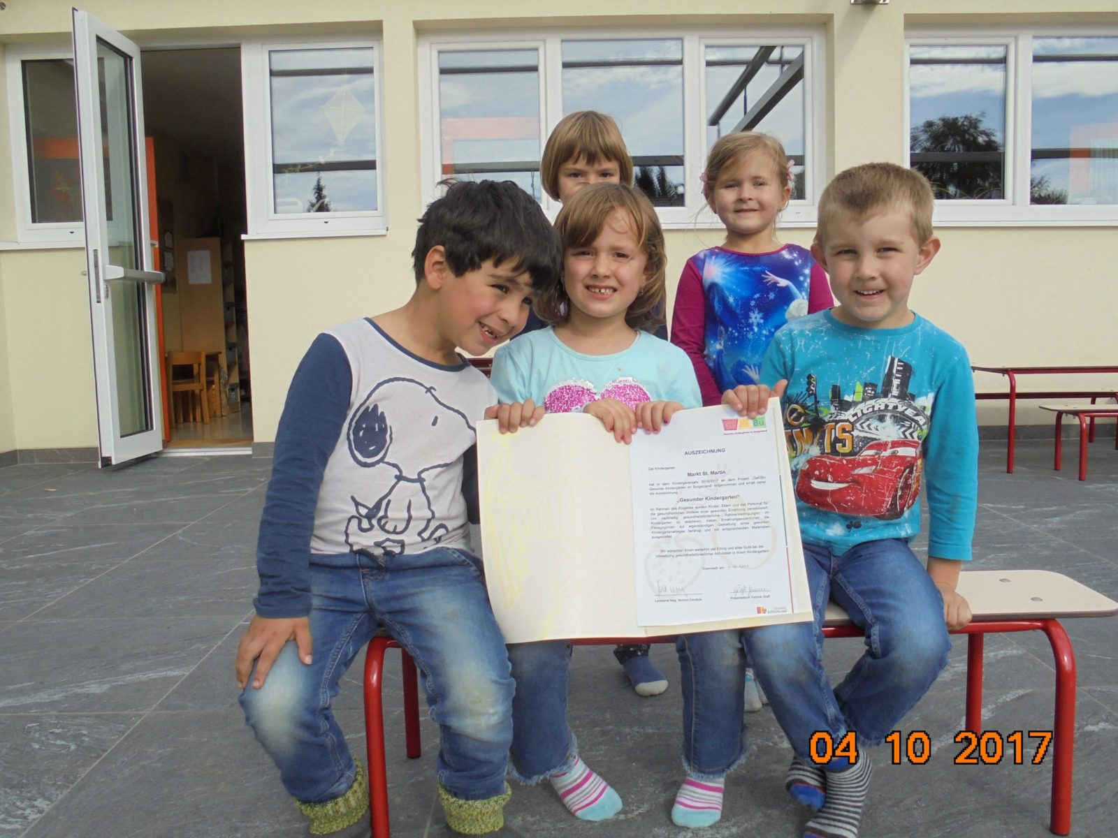 Urkundenverleihung Kindergarten Ge Ki Bu